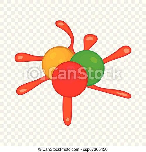 Paintball blob icon in cartoon style - csp67365450