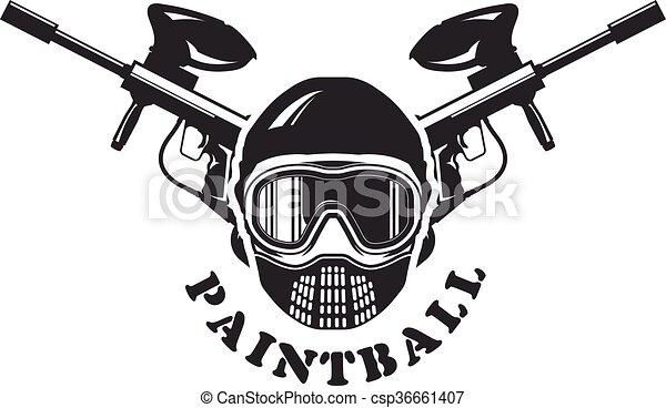 Paintball Gun Vector Clipart Illustrations 1219 Paintball Gun Clip