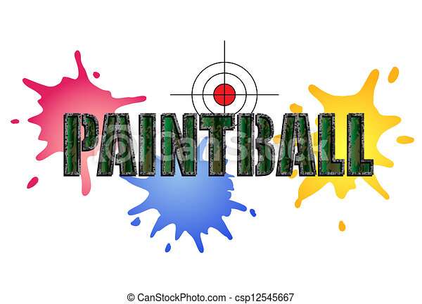 paintball logo paintball logo in camouflage style with paint smears rh canstockphoto com paintball clip art pictures paintball gun pictures clip art