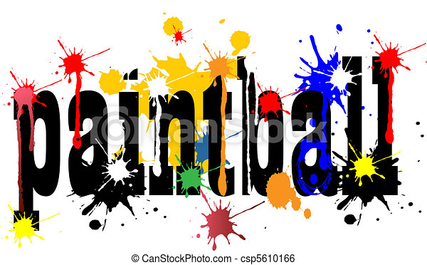 paintball logo vector art with ink splashes stock illustration rh canstockphoto com paintball splat clipart paintball clip art images free