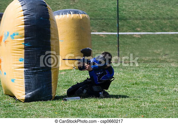 Paintball player - csp0660217