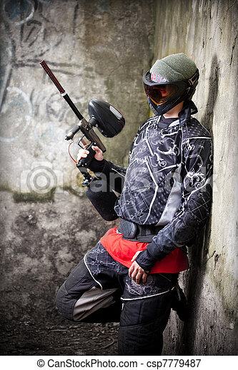 Paintball player - csp7779487