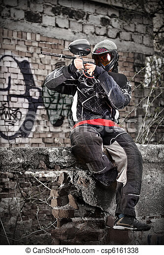 Paintball player - csp6161338