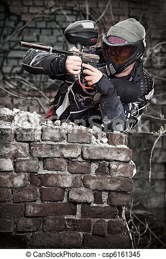 Paintball player - csp6161345