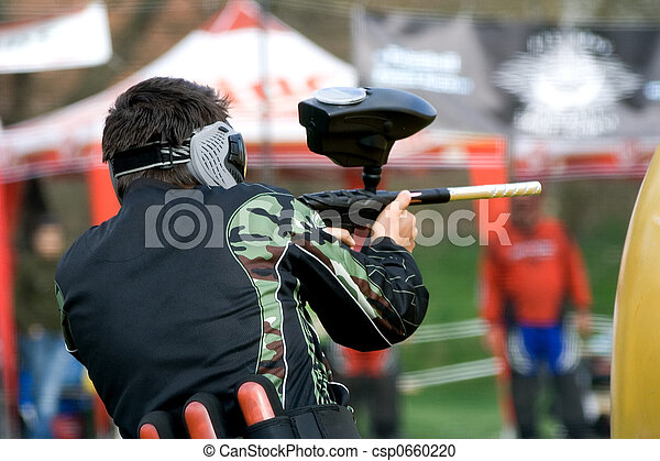 Paintball player - csp0660220