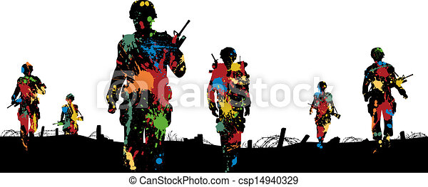 Paintball troops - csp14940329