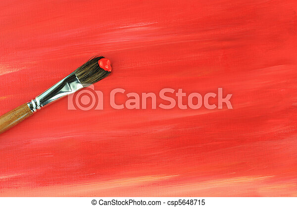 Paintbrush and Painted Background - csp5648715