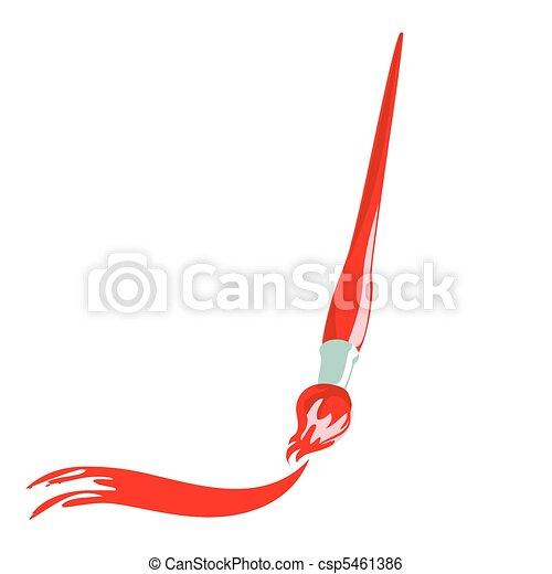 paintbrush vector illustration of paintbrush with artistic stroke