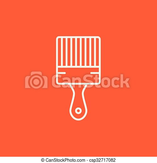 Paintbrush line icon. - csp32717082