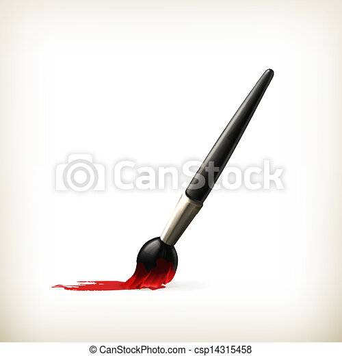 Paintbrush, vector - csp14315458