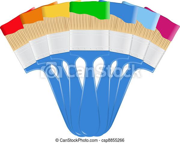 Paintbrushes - csp8855266