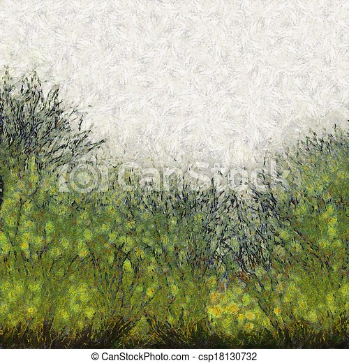 Painted abstract grass texture A digitally painted background