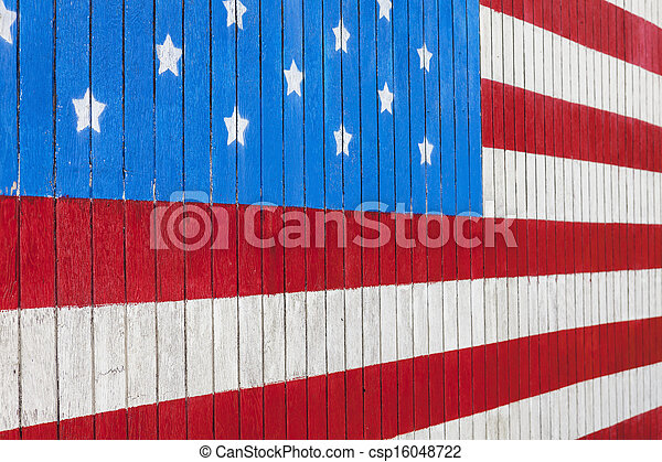 Painted American Flag - csp16048722