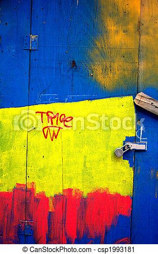 Painted Door Abstract - csp1993181