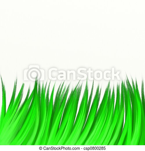 painted grass painted long green grass isolated on white stock rh canstockphoto com green grass clipart png