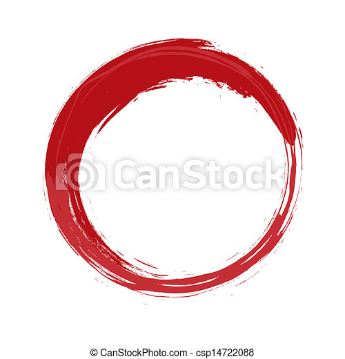 an image of a painted red circle rh canstockphoto com