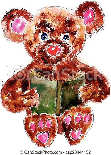 Painted Teddy Bear - csp28444152