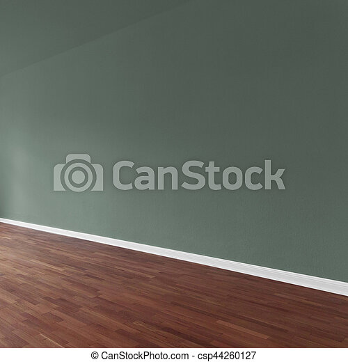 olive green wall background in apartment interior