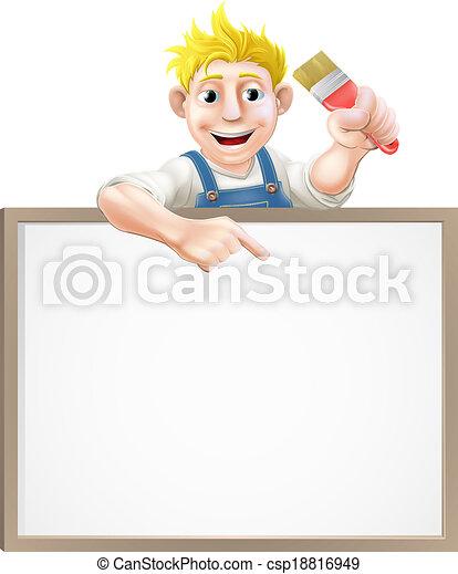 Painter decorator sign - csp18816949