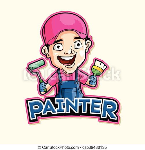 painter logo illustration design