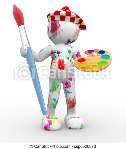 painter. - csp6526678