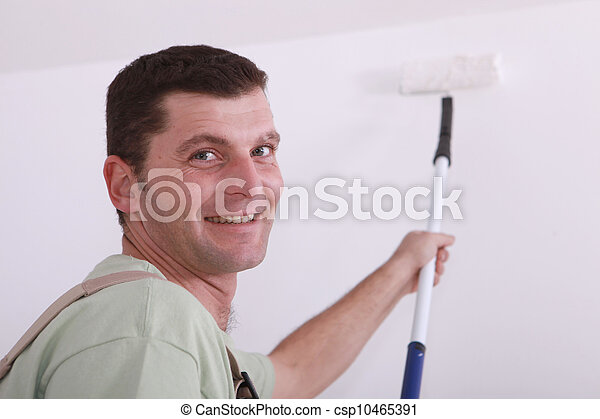 Painter with roller - csp10465391