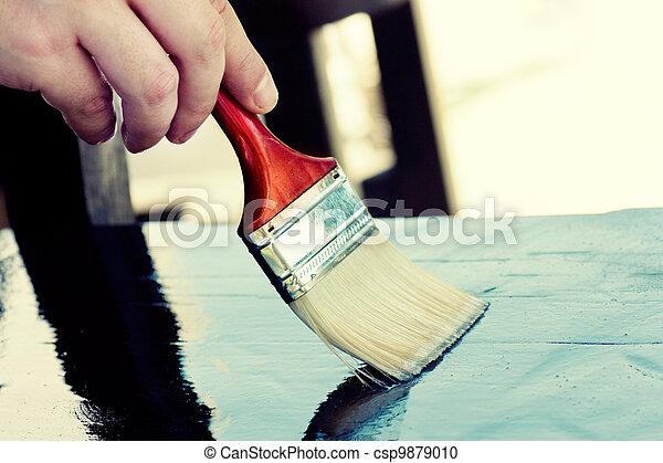 Paintimg furniture - csp9879010