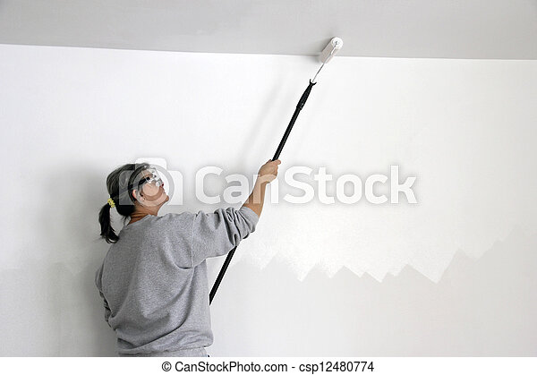 painting a ceiling - csp12480774