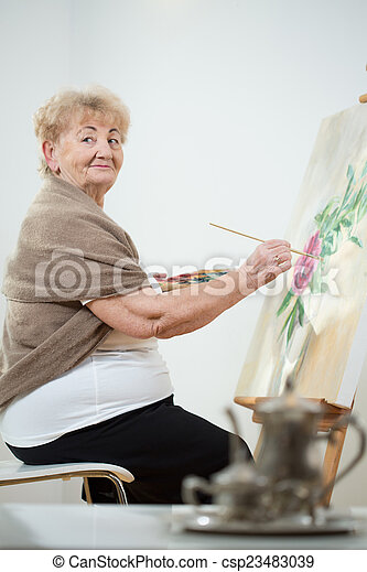 Painting a picture - csp23483039