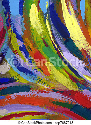 painting abstract texture background - csp7687218
