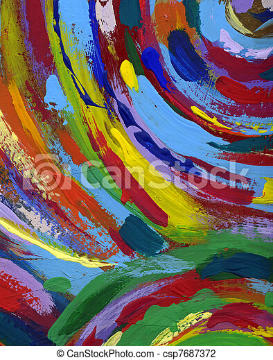 painting abstract texture background - csp7687372