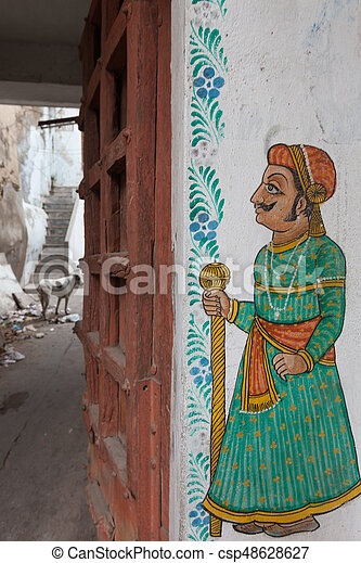 Painting in Rajasthan - csp48628627