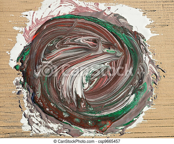 painting of abstract colorful background - csp9665457