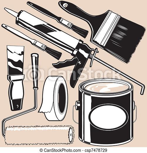Painting Supplies - csp7478729