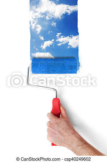 Painting the sky - csp40249602