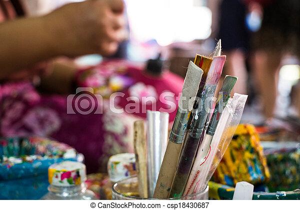 Painting umbrella Thailand - csp18430687