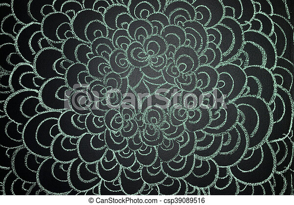 Painting with chalk on a blackboard - csp39089516