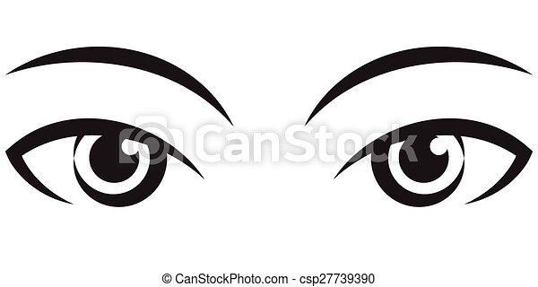 pair female expressive eyes vector icon pair female expressive rh canstockphoto com eyes vector free eye vector image