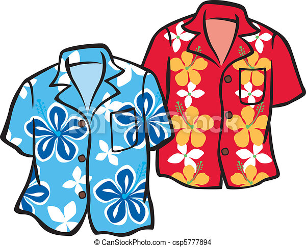 illustration of a pair of aloha shirts shirts are eps vector rh canstockphoto com aloha flower clipart aloha flower clipart
