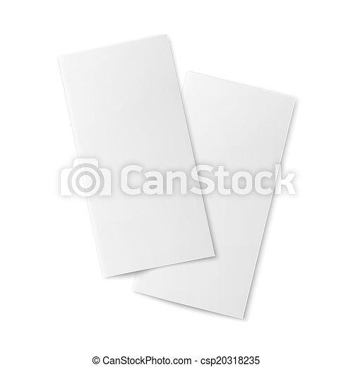 pair of blank bifold paper brochures pair of blank bifold paper