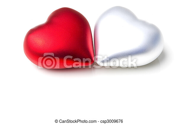 Pair Of Decoration Hearts Emotional Love Symbol Gift For Valentine