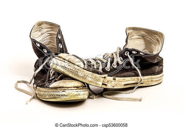 athletic tennis shoes isolated