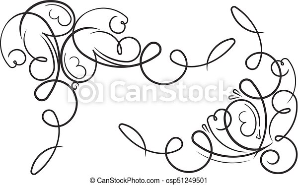 pair of ornamental decorative floral corners vector illustration for your design or tattoo https www canstockphoto com pair of ornamental decorative floral 51249501 html