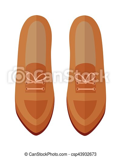 Pair of Shoes Vector Illustration in Flat Design - csp43932673