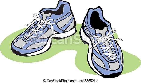 paire, chaussures athlétiques - csp5855214