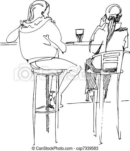 paire, table, jeunesses - csp7339583