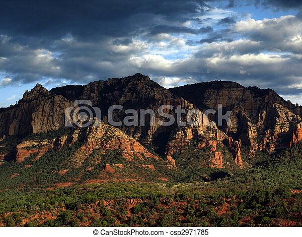 paisagem, eua, natureza, panorâmico, arenito, vermelho - csp2971785