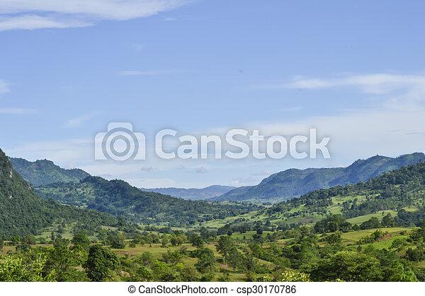 paisagem montanha - csp30170786
