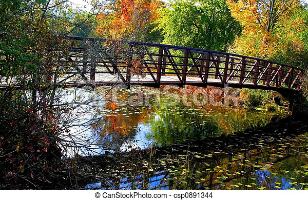 paisagem outono - csp0891344