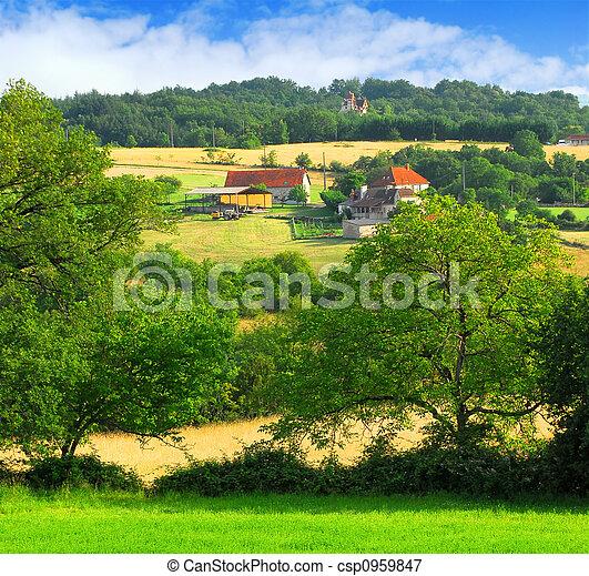 paisagem rural - csp0959847